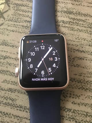 Apple WATCH Serie 1 , 42 m/m Dorado y Correa azul