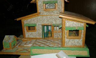 casa maqueta hecha a mano