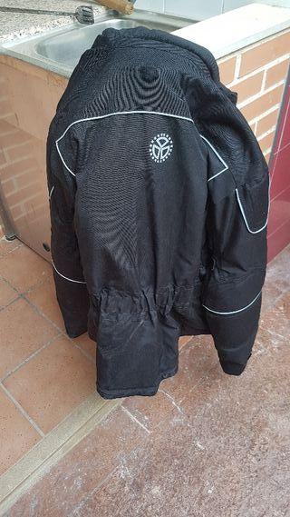 chaqueta moto cordura talla L ,color negra
