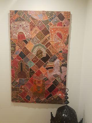Cuadro tapiz marroqui 90x150
