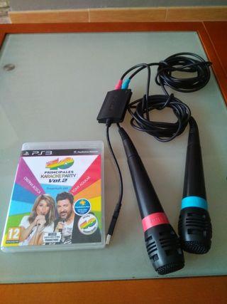 karaoke 40 Principales con microfonos PS3