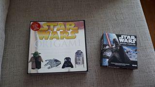 Libro origami y juego de cartas STAR WARS - NUEVOS