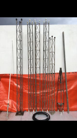 Torreta superior, intermedias y antena