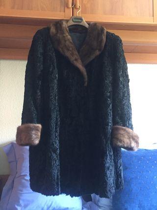 Abrigo de astracan y vison