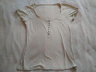 Camiseta básica marrón claro