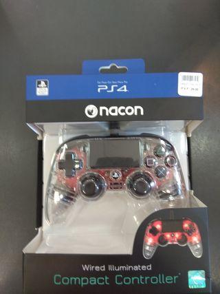 Mando Nacon Led Rojo PS4