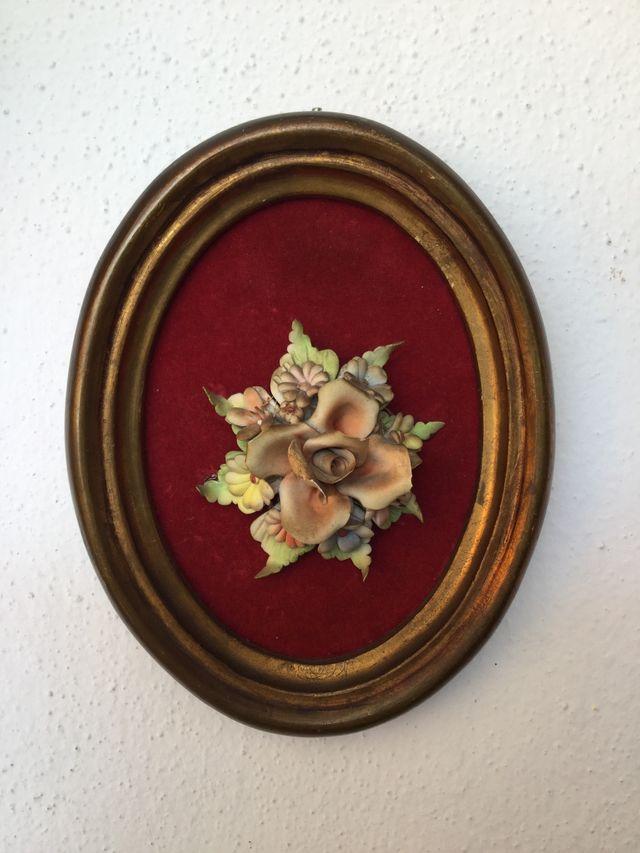 Antiguo marco ovalado floral de segunda mano por 12 € en ...