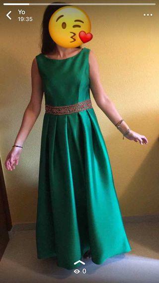Vestido verde fiesta