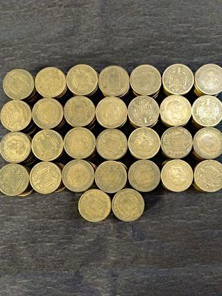 lote 300 monedas antiguas 1 peseta Franco 1953