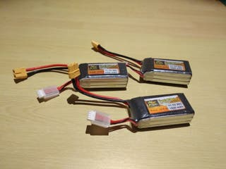 Pack 3 baterías LiPo 3S 30C 1500mAh ZOP Power