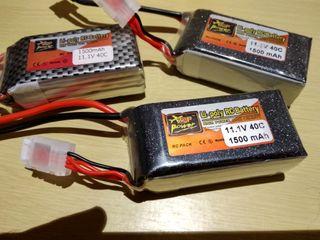 Pack 3 baterías 3S 40C 1500 mAh ZOP Power