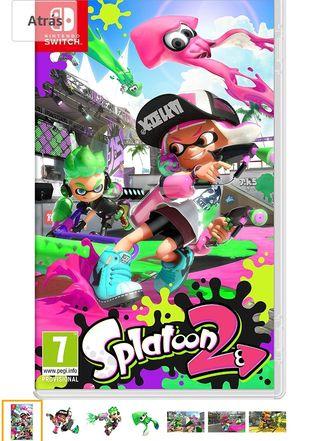 splatoon 2 videojuego Nintendo switch