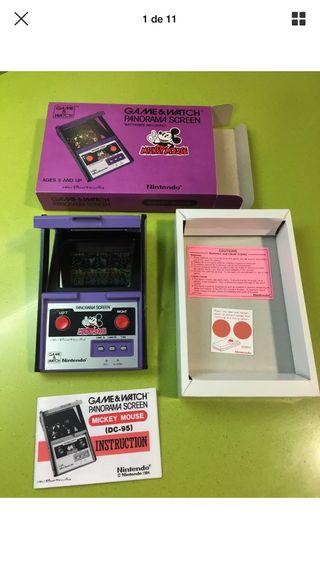 Game and watch panorama Mickey Mouse Nintendo,casio,sega,juguete antiguo,juego electronico