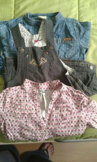 vestidos y camisa niña