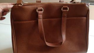Bolso beige / marrón