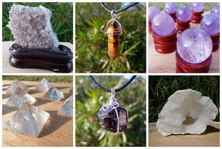 Joyas, minerales, amuletos, talismanes, ...
