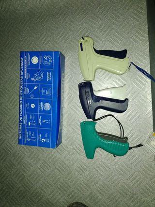 pistola para etiquetas de ropa