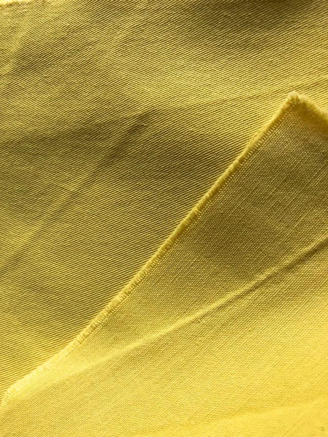 Pièce de 2,88 mètres de tissu Jaune Coton sergé