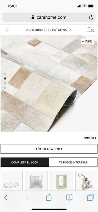 Alfombra de piel de vaca 100% original Zara Home