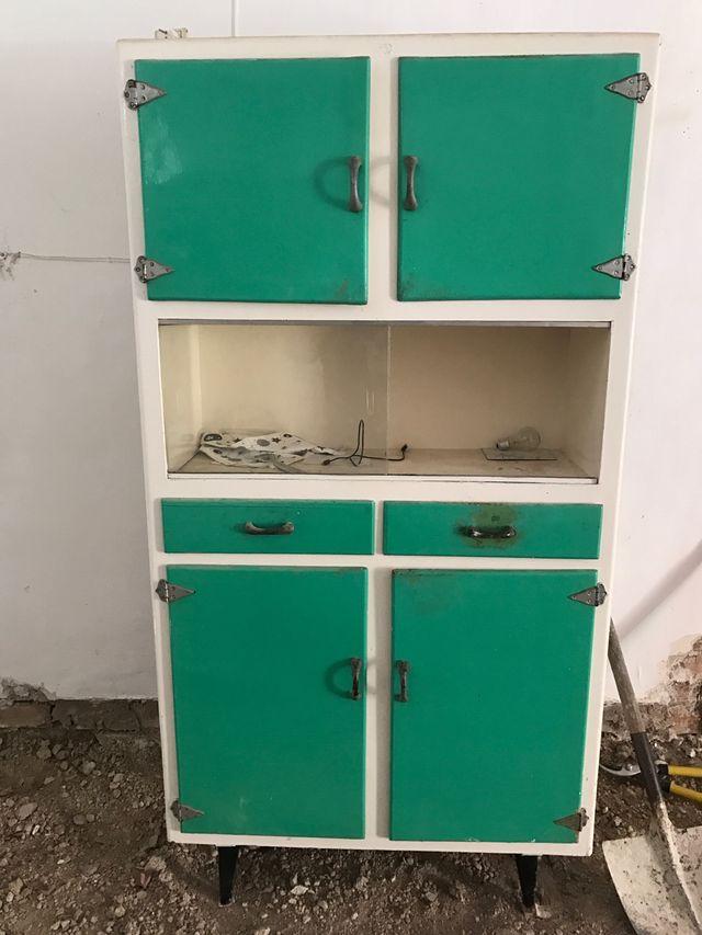 Mueble cocina Vintage de segunda mano por 120 € en Baza en WALLAPOP