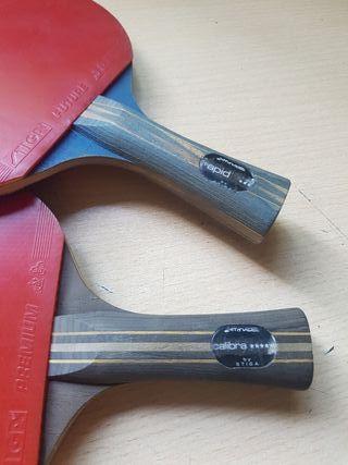 raquetas de pinpon de marca Styga 3 estrellas y 5