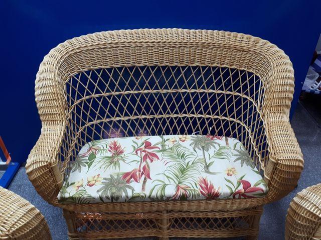 Mueble jardín mimbre de segunda mano por 550 € en Villarejo de ...