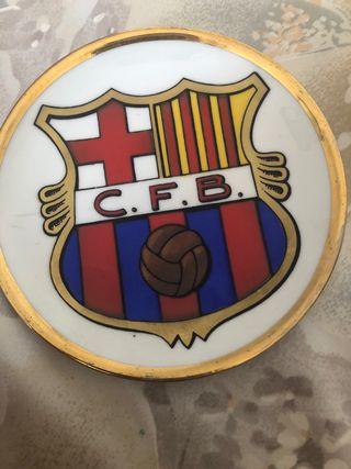 Plato decorativo del Barça