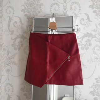 Falda polipiel Zara