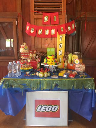 MESAS DULCES LEGO Y TEMÁTICAS Y MÁS!!!