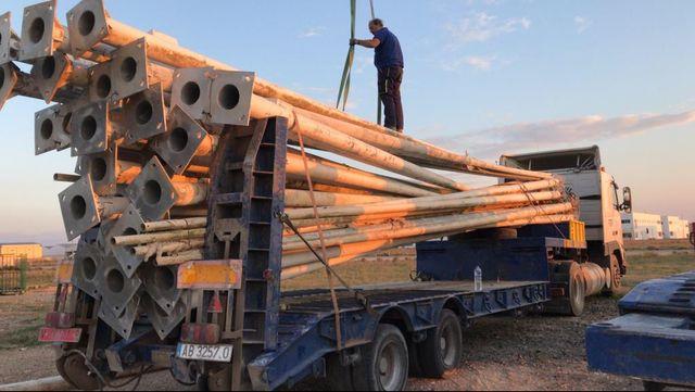 Poste luz farola galvanizada 12 m recta nuevas