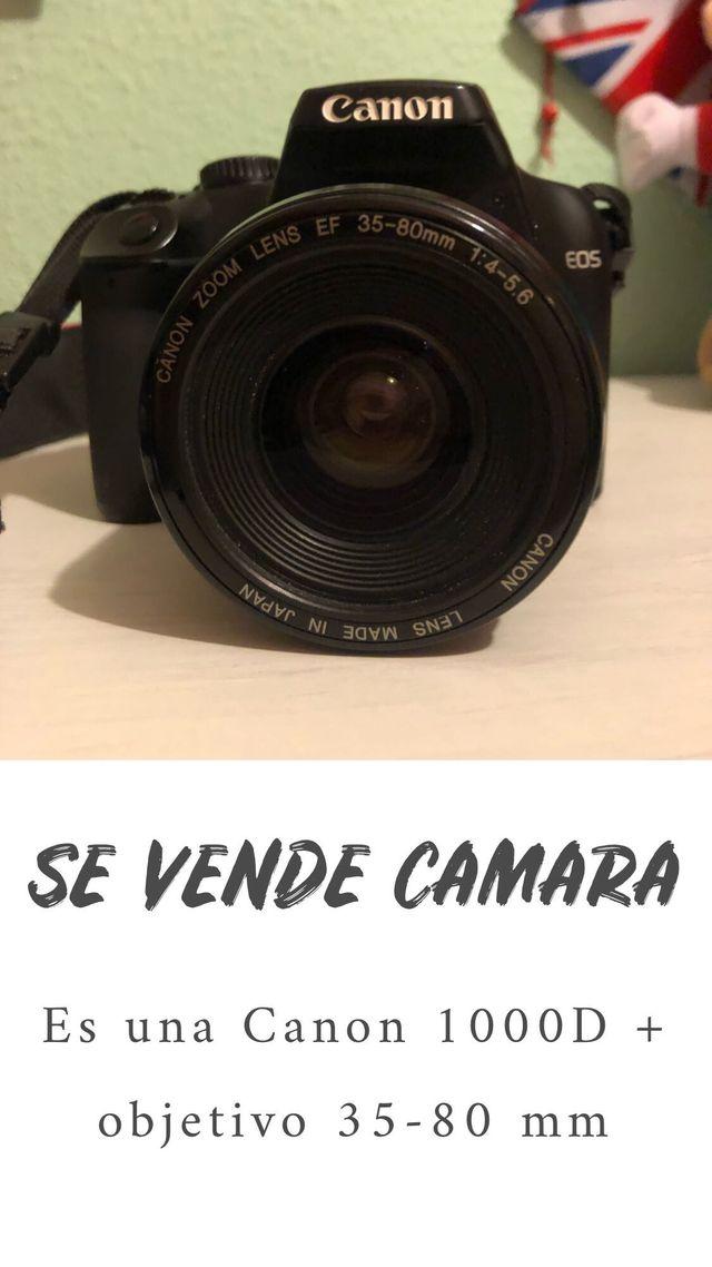 Canon 1000D objetivo 35-80mm