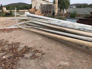 Farola alumbrado poste luz 12 M galvanizado curvad