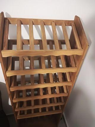 estantería vino