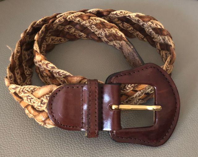 ceinture tressée cuir et ficelle T 75-80