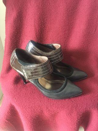 Zapatos diseño piel sra num 41