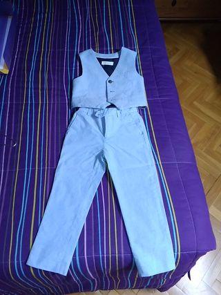 traje chaleco y pantalón 3/4 años