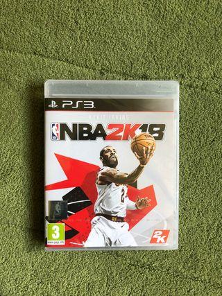 NBA 2K18 PS3 precintado