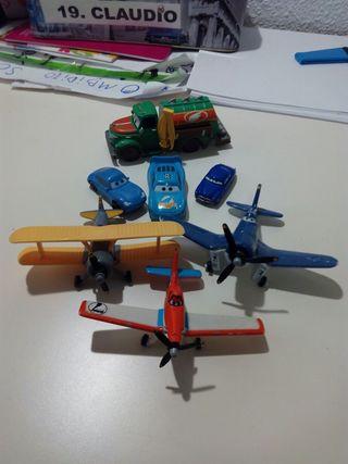 Aviones Disney y Coches Cars