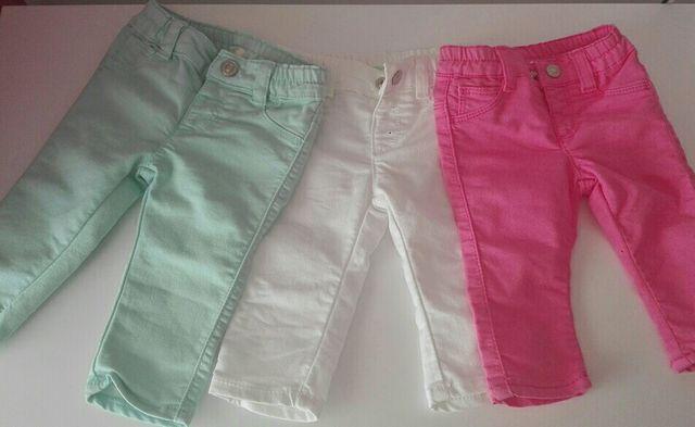 84f8005ab1a2c 3 x 10€!!! Pantalones Benetton bebé niña t. 3 6 m de segunda mano ...