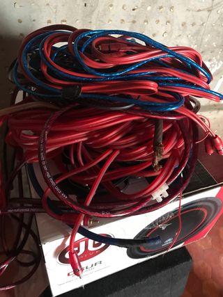 Cableado equipo sonido coche