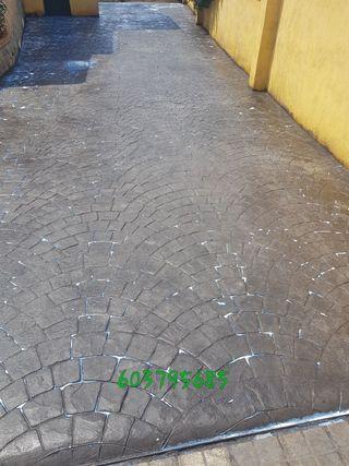 Pavimento hormigón impreso y pulido