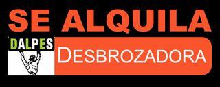SE ALQUILA DESBROZADORA