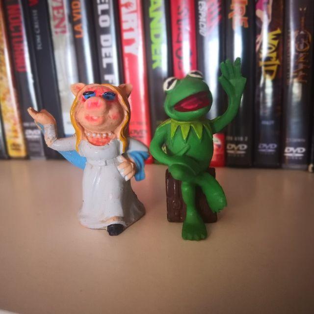 Figuras Rana Gustavo y cerdita Peggy de segunda mano por 10