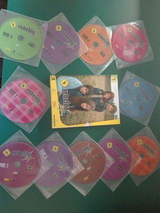 Pack dvd serie Rebelde Way