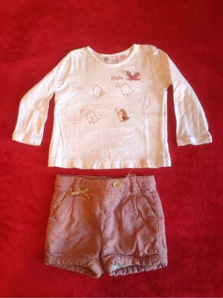 Conjunto pantalón corto bebé