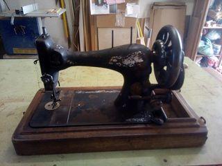 maquina de coser antigua de manivela singer