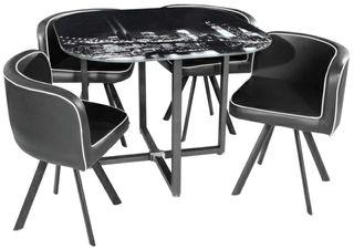 4 sillas + soporte mesa