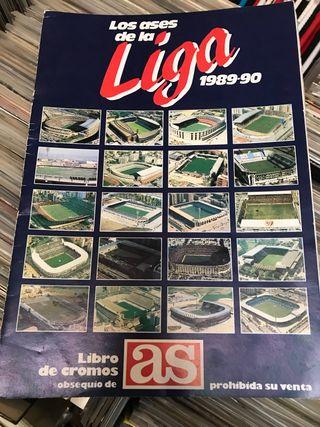Album cromos ases liga 1989-90