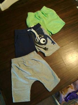 Lote pantalones cortos 2/3 años