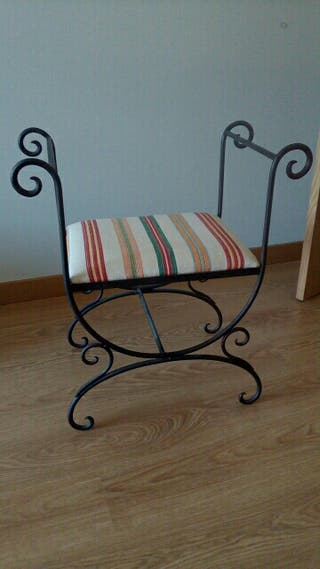 silla forja decoración